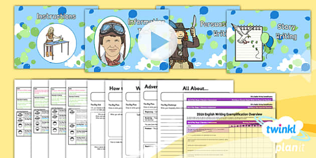 PlanIt Y2 Explorers WriteIt Pack - explorers, adventure story, stories, instructions, information texts, persuasive writing, Up, Amelia Earhart, assessment, big write, test