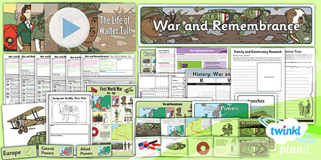 PlanIt - History KS1 - War and Remembrance Unit Pack - planit