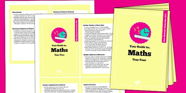 2014 Curriculum Cards Year 4 Maths - new curriculum, planning