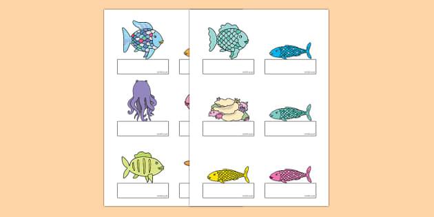 El pez arcoiris Auto registro editable