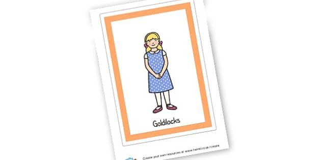 Goldilocks Poster - Goldilocks and the Three Bears Display Primary Resources, Display