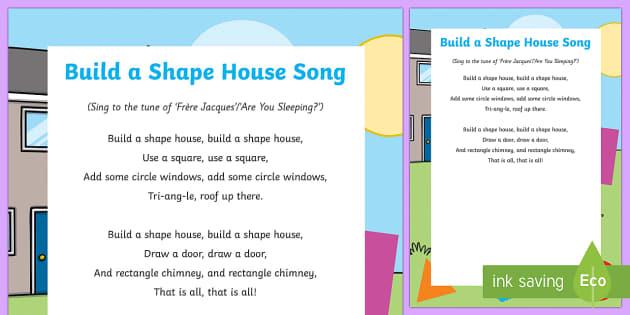 Build a Shape House Song