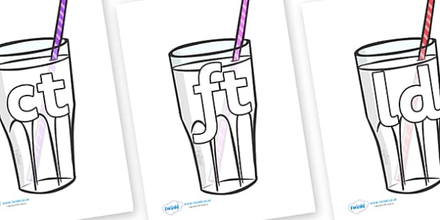 Final Letter Blends on Milkshakes - Final Letters, final letter, letter blend, letter blends, consonant, consonants, digraph, trigraph, literacy, alphabet, letters, foundation stage literacy