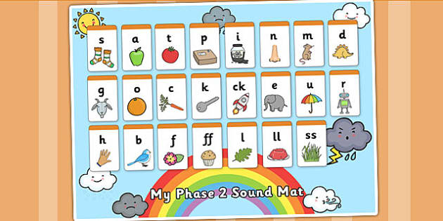 Weather Themed Phase 2 Sound Mat - seasons, visual aid, sound