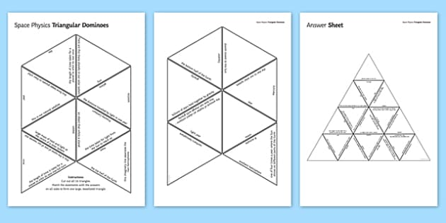 Space Physics Triangular Dominoes