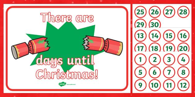 Christmas Countdown Display - christmas, xmas, christmas countdown, countdown, count down, display countdown, christmas calendar, calendar