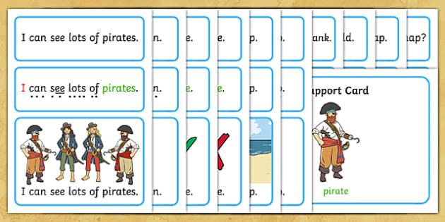 Pirates Simple Sentence Cards