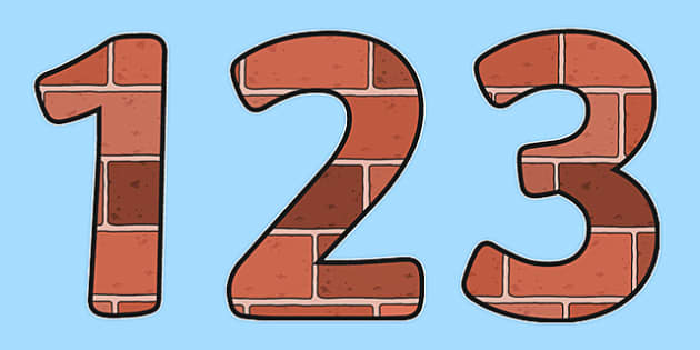 0-31 Display Numbers (Bricks) - Display numbers, 0-9, numbers, brick, houses and homes, display numerals, display lettering, display numbers, display, cut out lettering, lettering for display, display numbers