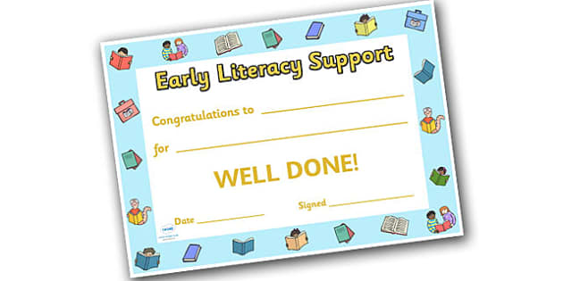 Literacy Award Certificates - Literacy award, scroll, reward, award, certificate, medal, rewards, school reward, understanding sounds