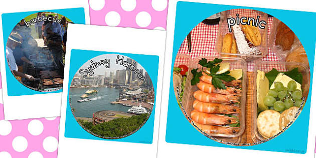 Australia Day Display Photo Cut Outs - australia, display, photo