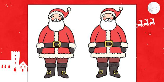 Father Christmas Editable  - father christmas, santa, christmas