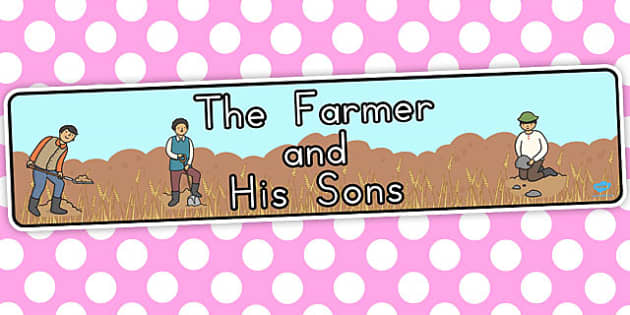 The Farmer and His Sons Display Banner - banners, display, visual