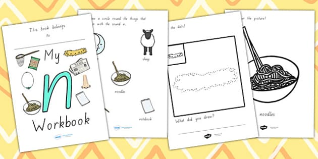 My Workbook N Lowercase - letter formation, writing, tracing
