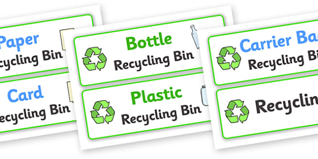 Recycling Box Labels - Recycling, recycling box, label, labels, eco School, Eco, Recycle, environment, recyling, eco class, recycling posters, A4, display, turn off, lights, computer, paper, electricity, saving
