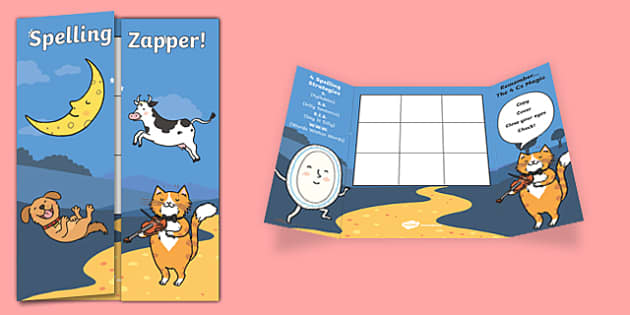 Hey Diddle Diddle Themed Blank Spelling Zapper - spelling zapper, spell, spelling, zapper, dyslexic, dyslexia, learn, tricky words, personalise, words, blank, hey diddle diddle