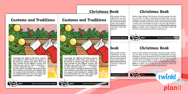 PlanIt - RE Year 6 - The Christmas Story Home Learning Tasks