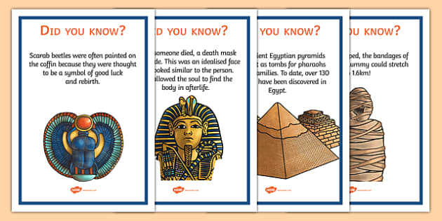 Ancient Egypt Fun Facts Posters - egypt, egypt facts, history