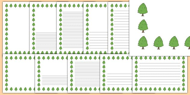 Lime Tree Themed Page Borders - lime tree, themed, page borders, page, borders