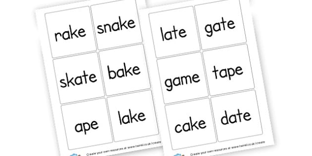 Long a Sound Cards - Sound Families Primary Resources, sound, sounds, sound family