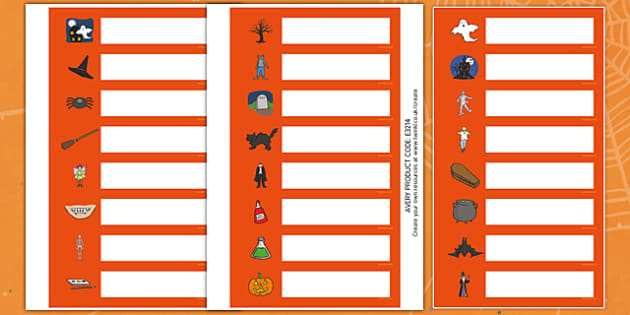 Halloween Themed Gratnells Tray Labels - labels, trays, Halloween