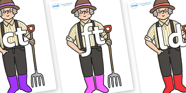 Final Letter Blends on Enormous Turnip Farmer - Final Letters, final letter, letter blend, letter blends, consonant, consonants, digraph, trigraph, literacy, alphabet, letters, foundation stage literacy