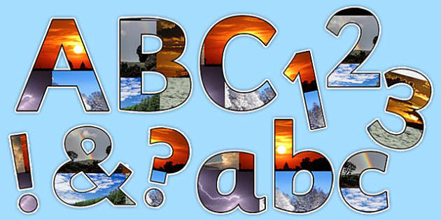 Welsh Weather Photo Display Lettering - welsh, cymraeg, Welsh Weather Display, Welsh, Display Lettering
