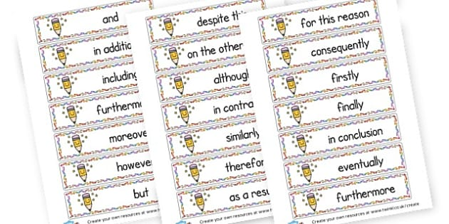 Connectives Word Cards - Connectives Primary Resources, cll, connective, joining word, join