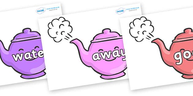 Next 200 Common Words on Teapots - Next 200 Common Words on  - DfES Letters and Sounds, Letters and Sounds, Letters and sounds words, Common words, 200 common words