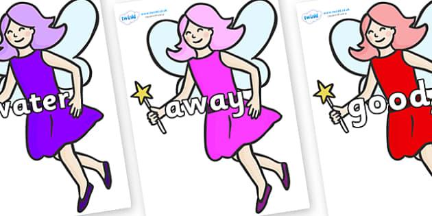 Next 200 Common Words on Fairies - Next 200 Common Words on  - DfES Letters and Sounds, Letters and Sounds, Letters and sounds words, Common words, 200 common words