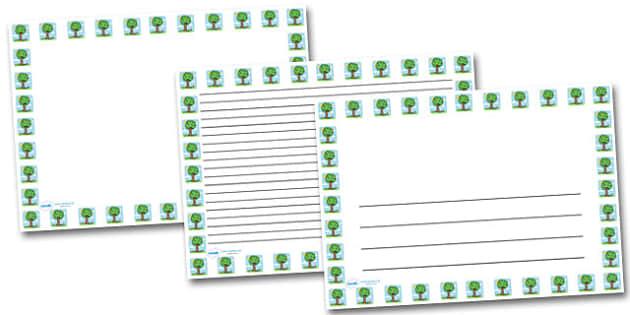 Spring Tree Landscape Page Borders- Landscape Page Borders - Page border, border, writing template, writing aid, writing frame, a4 border, template, templates, landscape