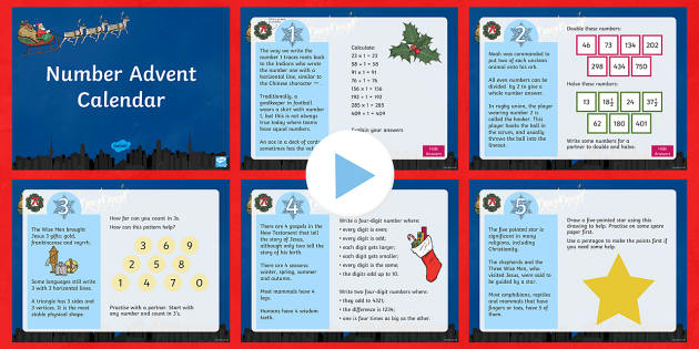 LKS2 Number Advent Calendar PowerPoint