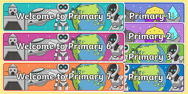 Welcome to Primary Display Banner-Scottish