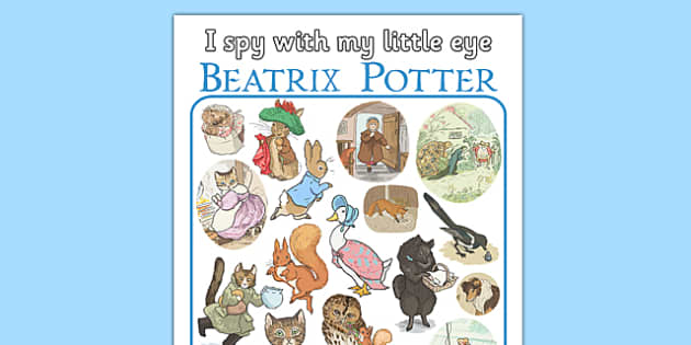 I Spy With My Little Eye Beatrix Potter - I spy, little eye, beatrix potter, author