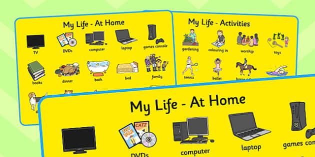 My Life Word Mat - my life, word mat, word, mat, life, life mat