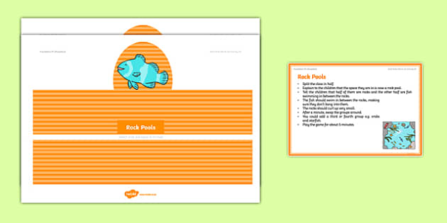 Foundation PE (Reception) Rock Pools Warm-Up Activity Card - physical activity, foundation stage, physical development, games, dance, gymnastics
