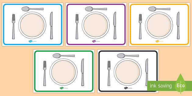 Editable Plate Templates - plate template, mat, editable, activity, snack, eating, healthy, lunch, bread, banana, fruit, vegetable, tomato, potato, grains, protein