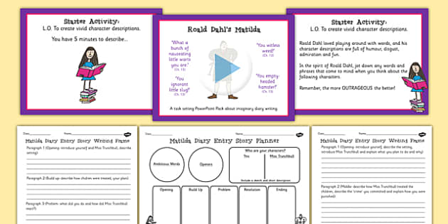 Matilda Inspired Story Writing Lesson Teaching Pack to Support Teaching on Matilda - book, write