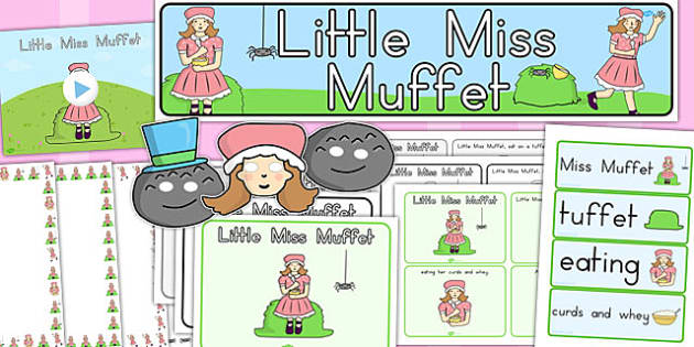 Little Miss Muffet Resource Pack - australia, story, muffet