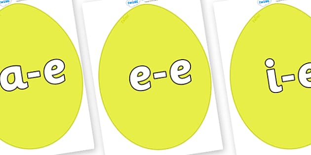 Modifying E Letters on Golden Eggs - Modifying E, letters, modify, Phase 5, Phase five, alternative spellings for phonemes, DfES letters and Sounds