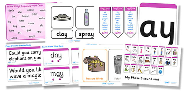 Phase 5 Resource Pack - phase 5, phase five, resource pack, resources, phase 5 resources, phase 5 activities, actvities, word cards, display poster, words