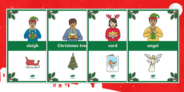 BSL Christmas Signs Display Posters