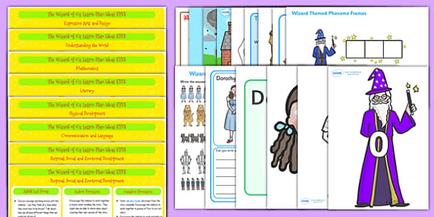 The Wizard of Oz EYFS Lesson Plan and Enhancement Ideas - stories, lesson ideas