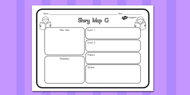 Story Map G Worksheet - australia, story, map, worksheet, g