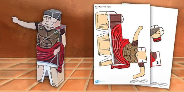 Ancient Rome Paper Model Emperor - paper model, rome, emperor