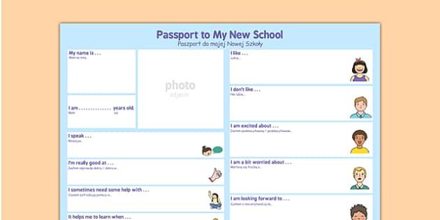 Passport To a New School Polish Translation - polish, passport, new school, new, school