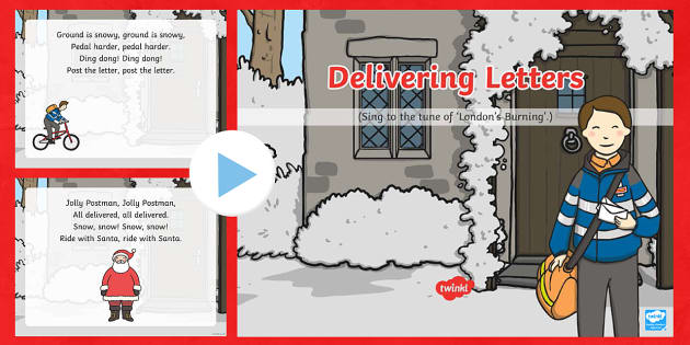 Delivering Letters Song PowerPoint
