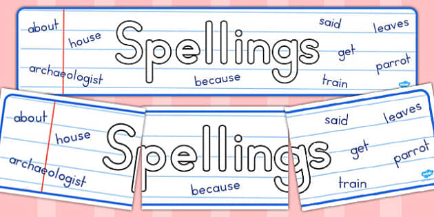 Spellings Display Banner - australia, spelling, display, banner