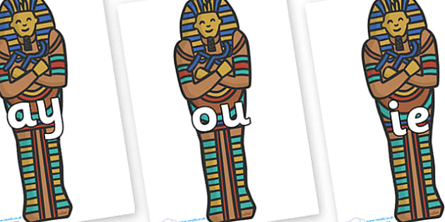 Phase 5 Phonemes on Sarcophagus - Phonemes, phoneme, Phase 5, Phase five, Foundation, Literacy, Letters and Sounds, DfES, display