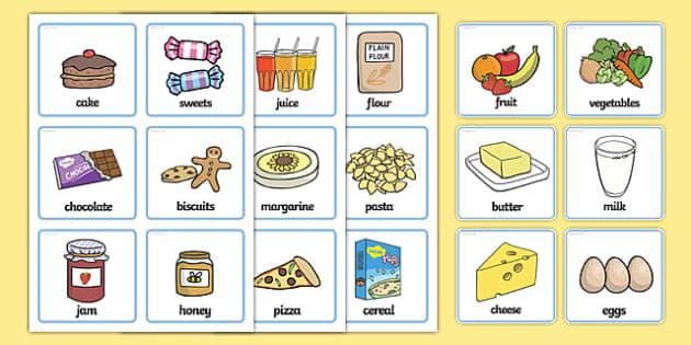 SEN Communication Cards Food - food, education, home school, child development, children activities, free, kids, special needs