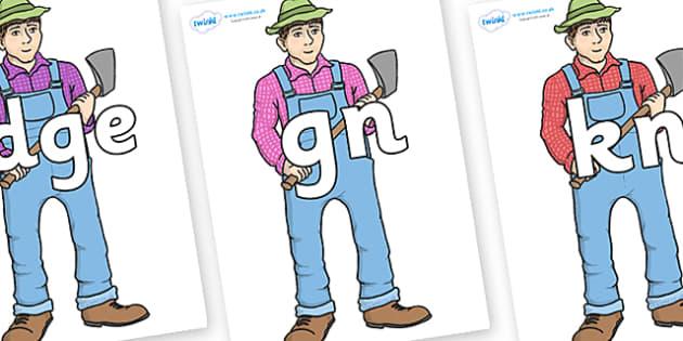 Silent Letters on Mr Arable - Silent Letters, silent letter, letter blend, consonant, consonants, digraph, trigraph, A-Z letters, literacy, alphabet, letters, alternative sounds